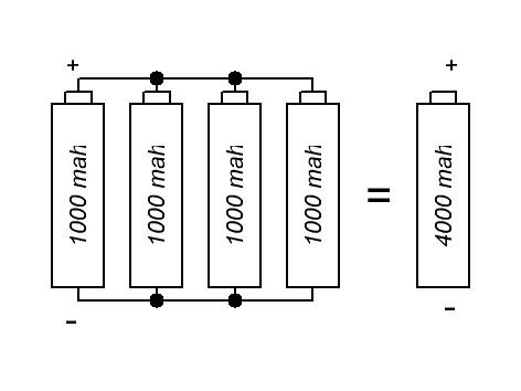 параллельное включение банок аккумуляторов