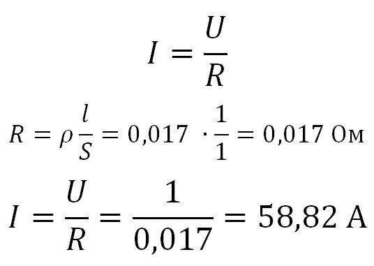 решение задачи сила тока в проводнике