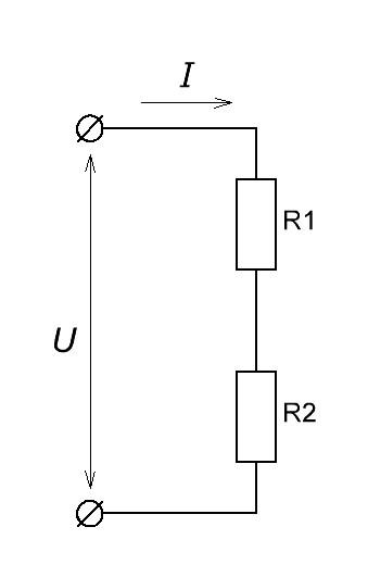 цепь из двух резисторов