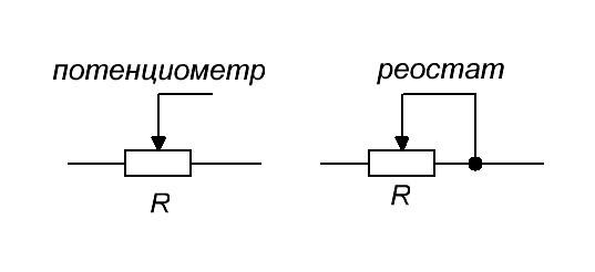 потенциометр и реостат