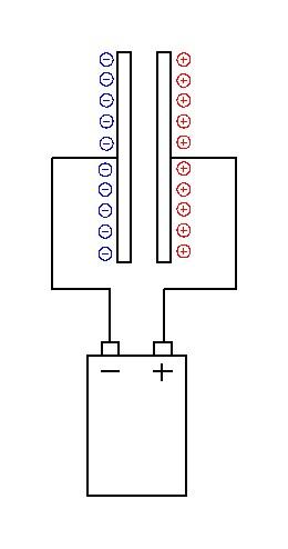 заряжаем конденсатор
