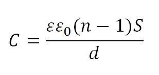 формула многослойного конденсатора