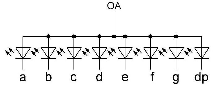 семисегментный индикатор внутреннее строение с общим анодом