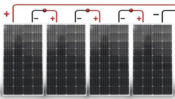 последовательное соединение солнечных панелей