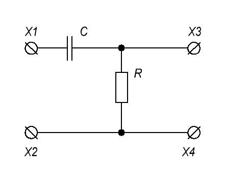 RC дифференцирующая цепь
