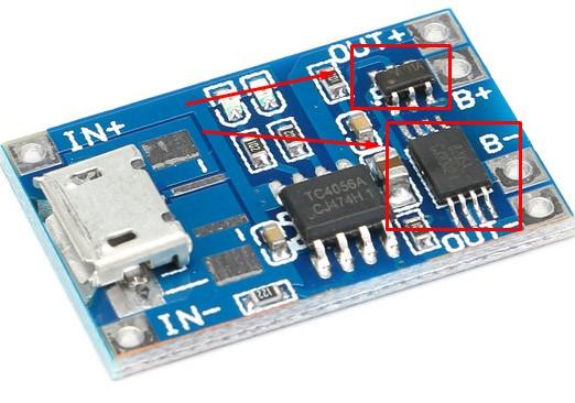 литий-полимерный аккумулятор модуль защиты и контроля заряда