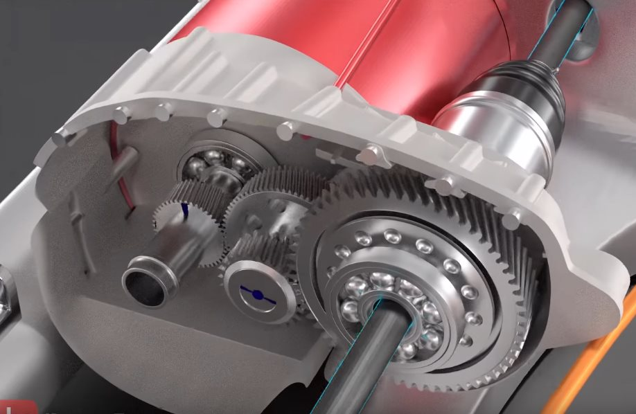 вращение колес автомобиля тесла