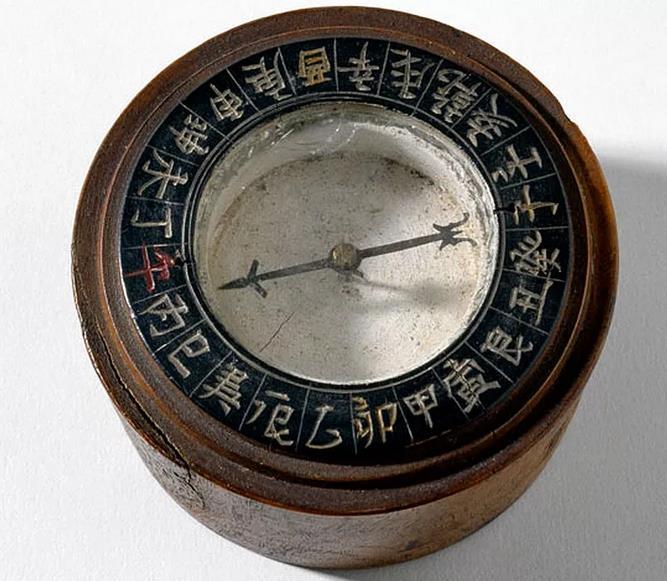 древний компас со стрелкой