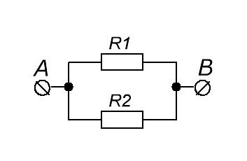 параллельное соединение двух резисторов