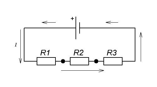сила тока через последовательное соединение проводников
