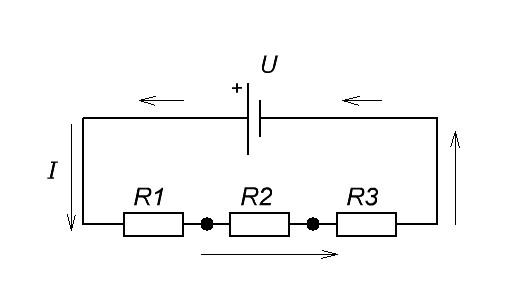 цепь с тремя резисторами