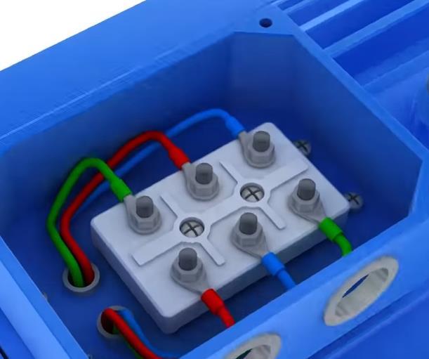 клеммная коробка асинхронного двигателя