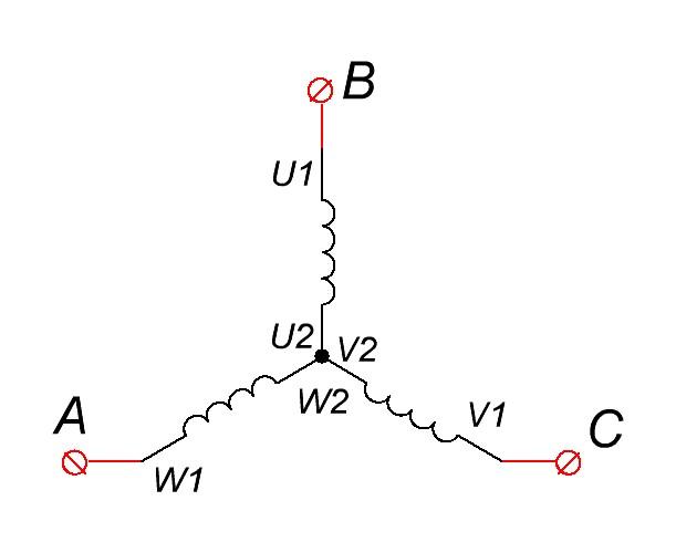 схема соединения звезда
