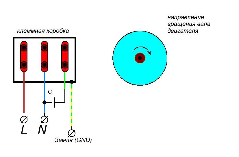 подключениеасинхронного двигателя к однофазной сети