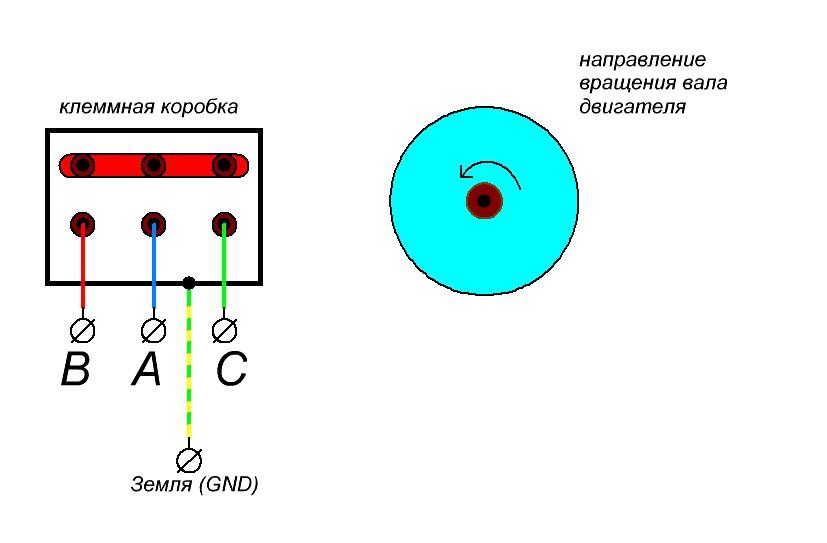 реверс асинхронного двигателя