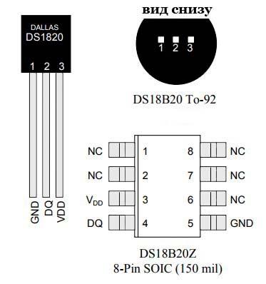 Датчик DS18B20