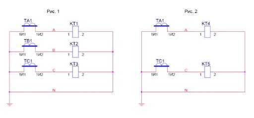 Схема подключения измерительного трансформатора тока