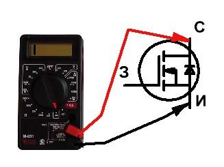 Проверка работы транзистора
