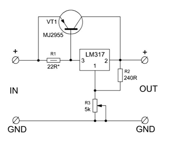 Транзистор и lm317