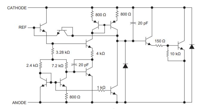 Детализированная схема tl431