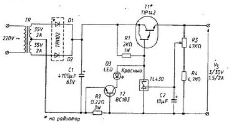 Лабораторный блок питания на TL431