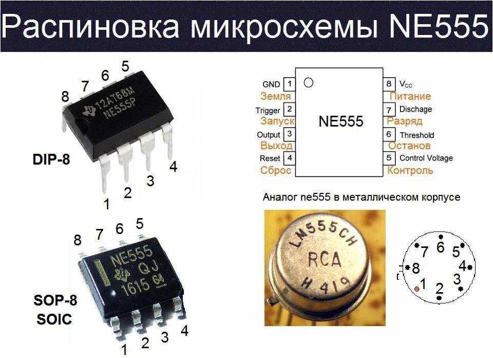 Распиновка NE555