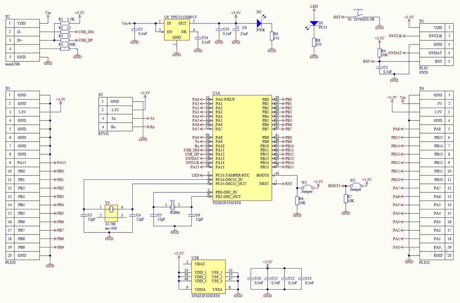Схема модуля отладки
